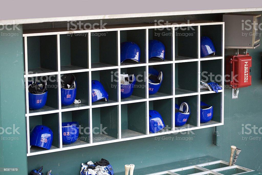 Baseball Batting Helmets royalty-free stock photo