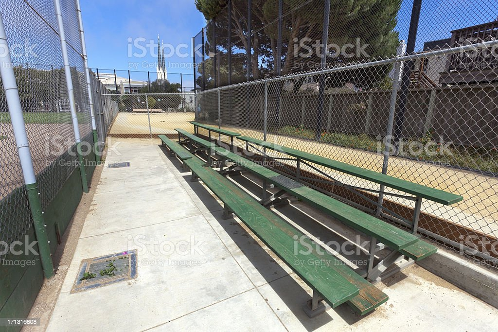 Baseball Bleachers royalty-free stock photo