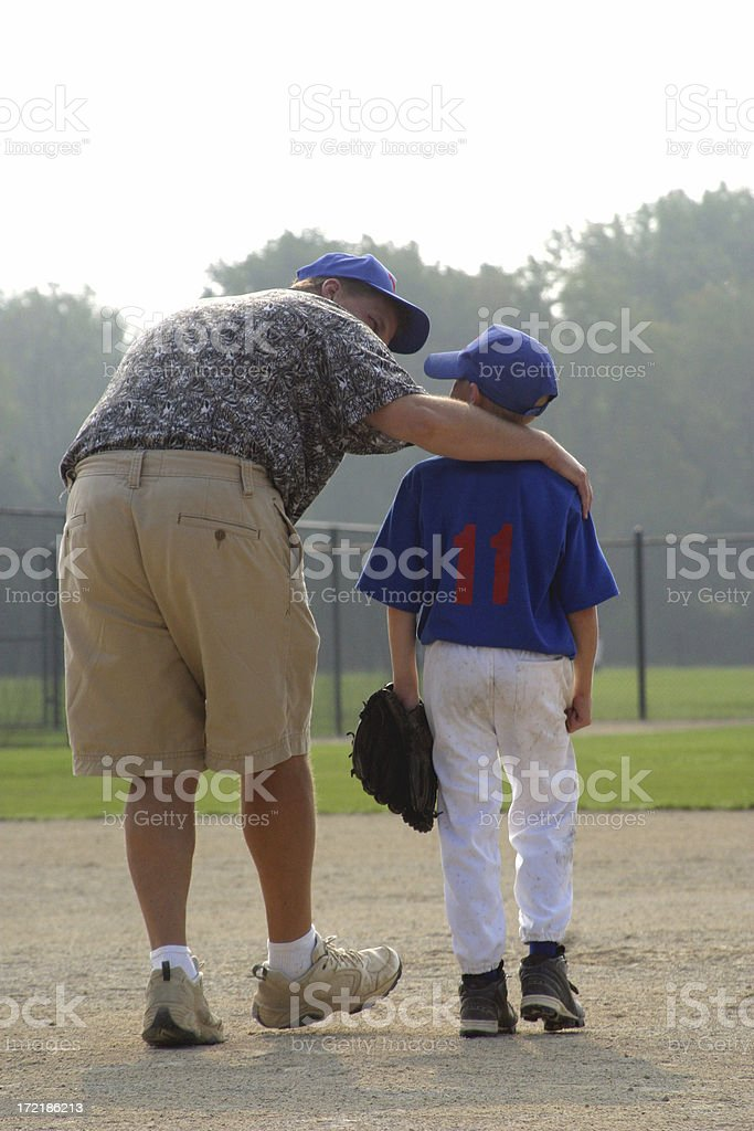 Baseball Boy and Dad/Coach 2 stock photo