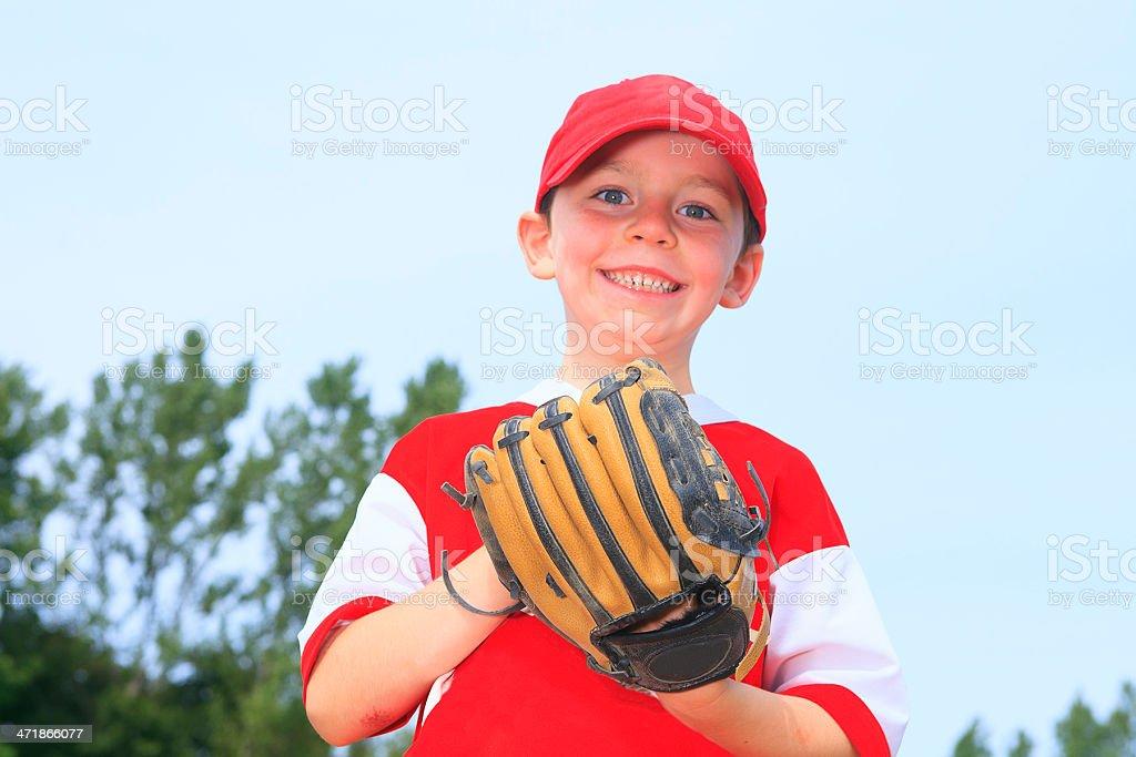 Baseball - Boy Funny Smile royalty-free stock photo