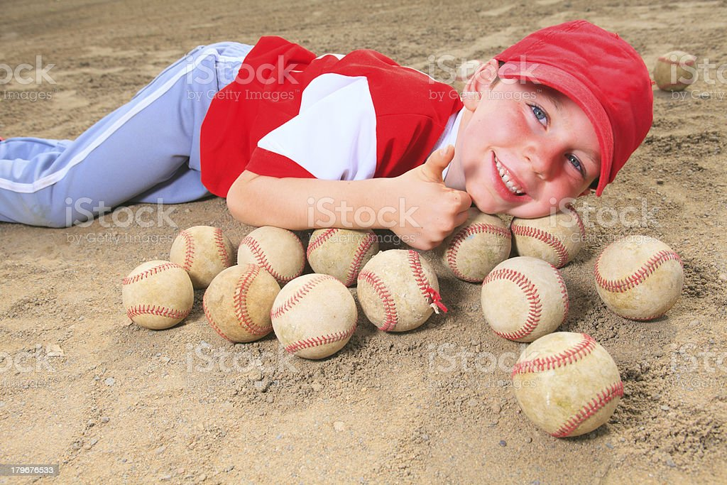 Baseball - Boy Positive Ball royalty-free stock photo