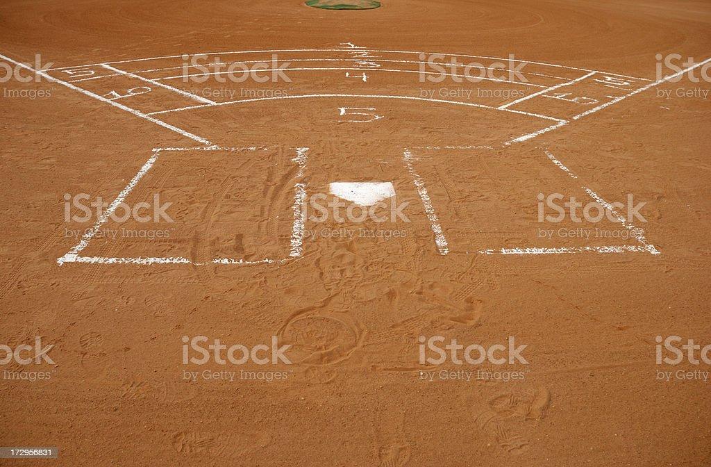 Baseball Bunting Grid royalty-free stock photo