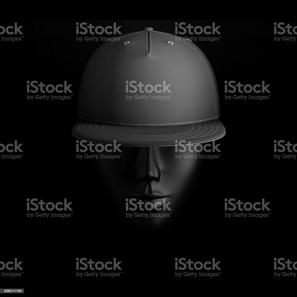 baseball cap on head stock photo