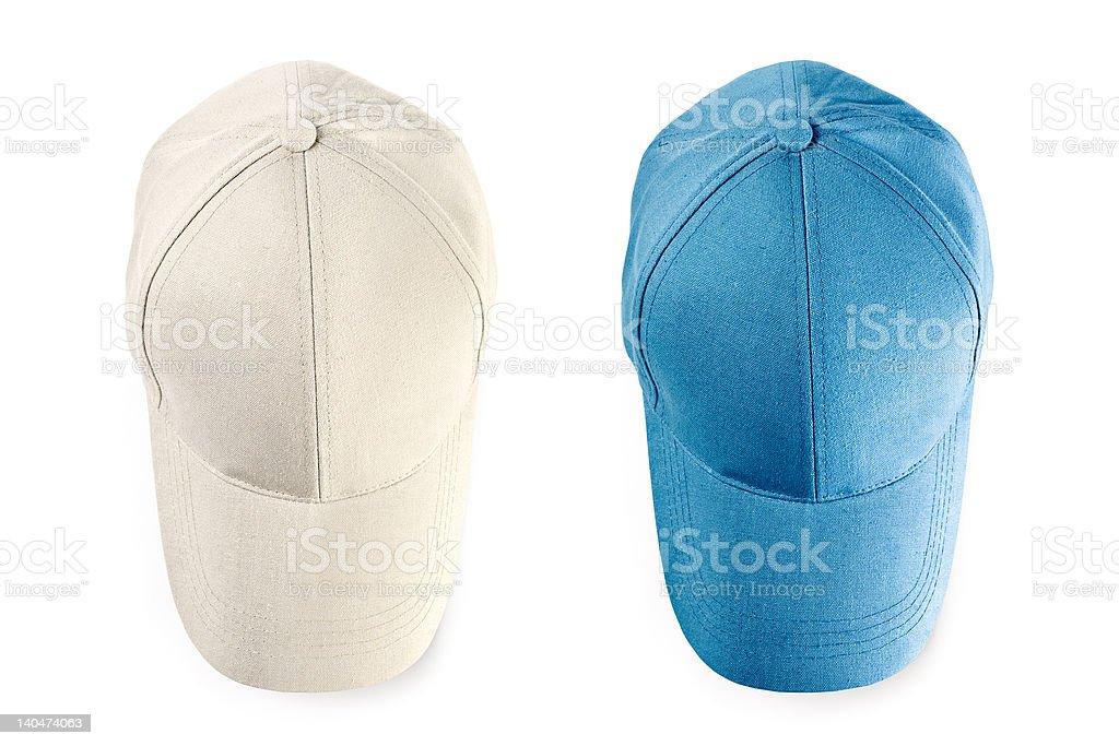 Baseball caps isolated royalty-free stock photo