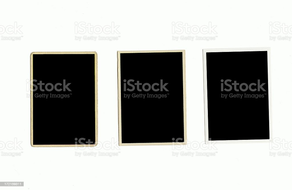 Baseball Card Frames - 50's, 70's and current royalty-free stock photo