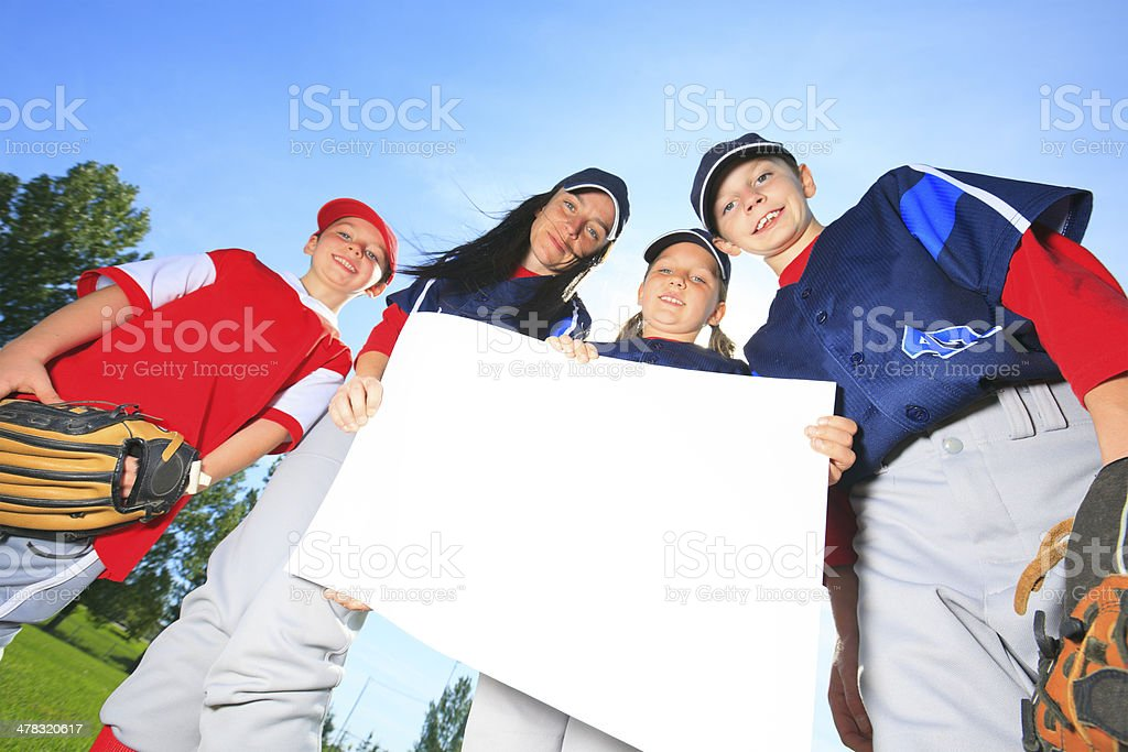 Baseball - Cardboard royalty-free stock photo