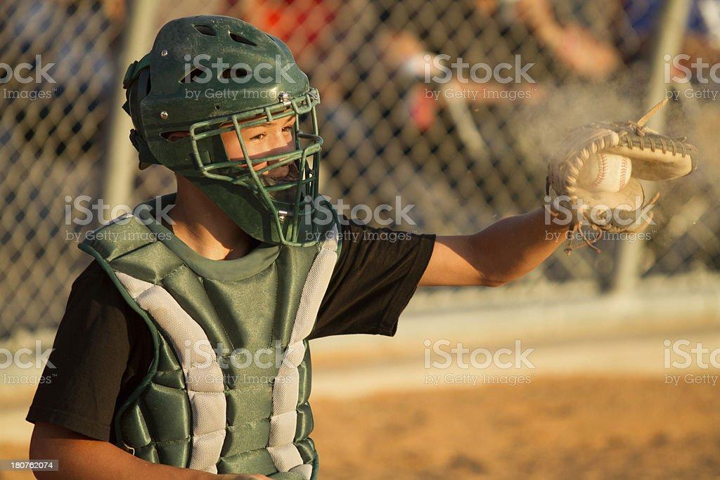 Baseball Catcher royalty-free stock photo