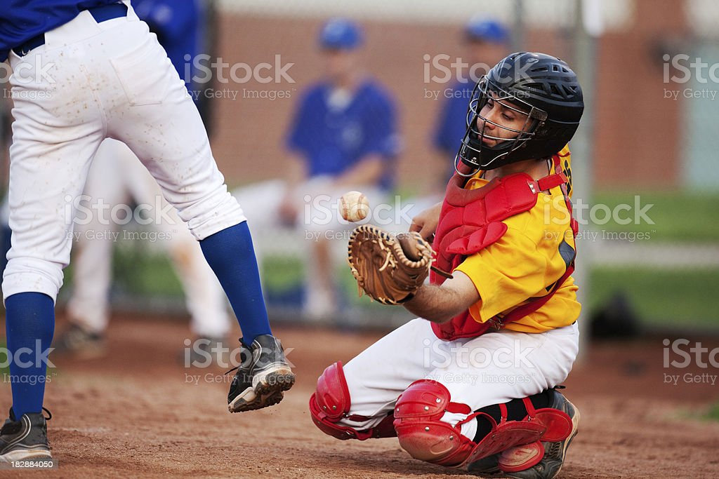 Baseball Catcher royalty-free stock photo