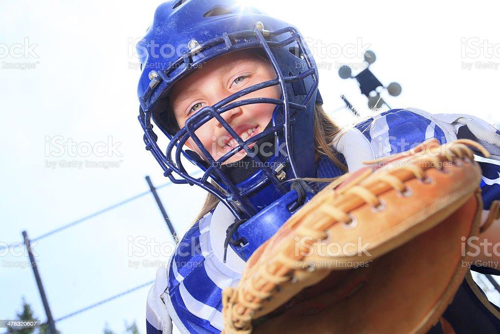 Baseball - Catcher Sun Light royalty-free stock photo