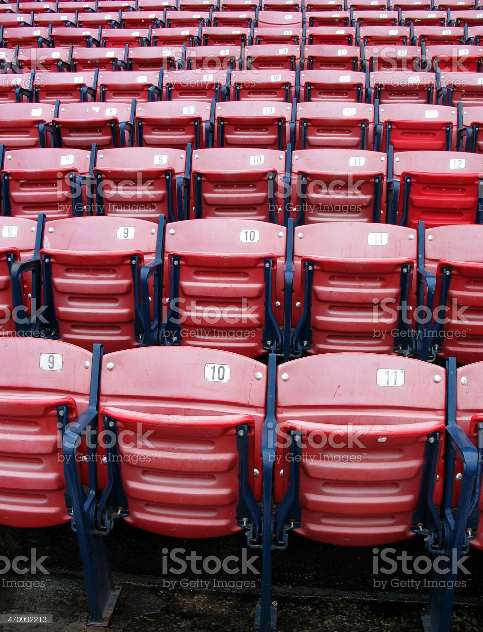 Baseball Chairs 1 royalty-free stock photo