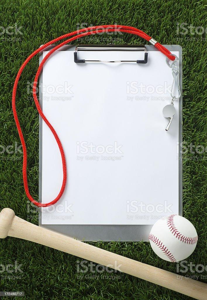 Baseball Clipboard on the Grass stock photo