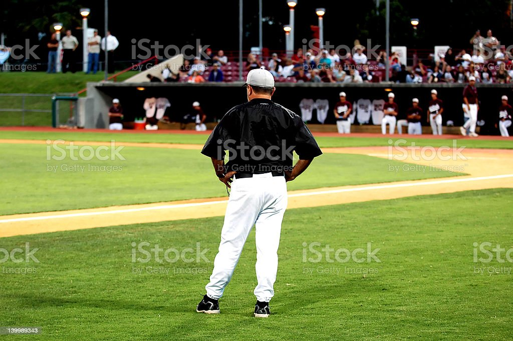 Baseball Coach stock photo