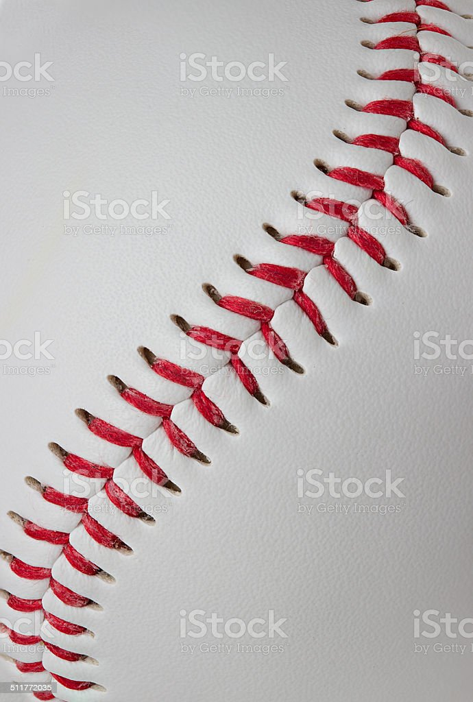 Baseball detail close-up stock photo