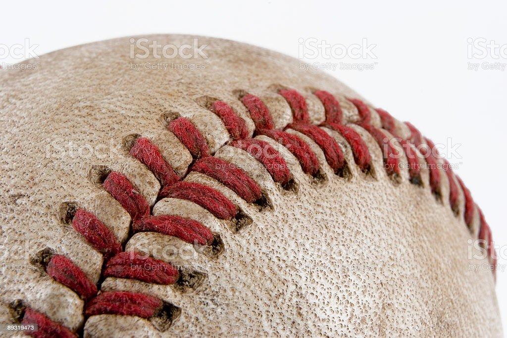 Baseball detail royalty-free stock photo