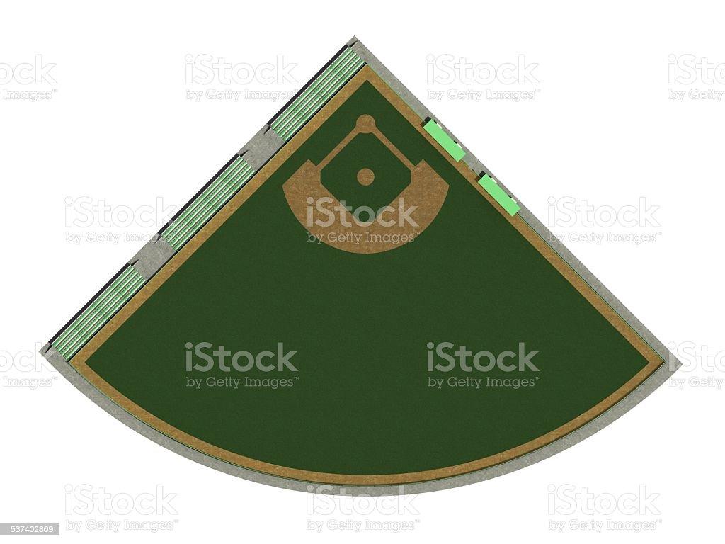 baseball diamond stock photo