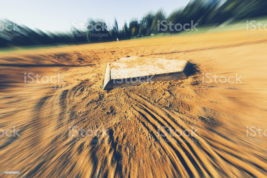 Baseball Diamond, Zooming royalty-free stock photo
