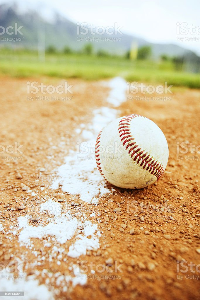Baseball Down the Line royalty-free stock photo