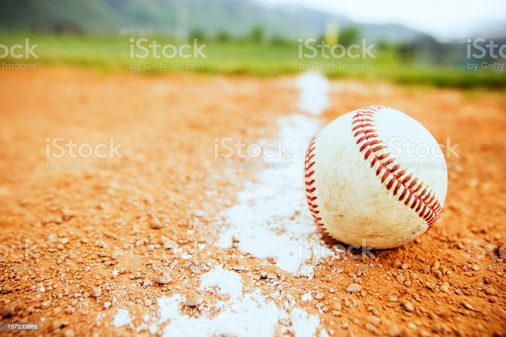 Baseball Down the Line stock photo