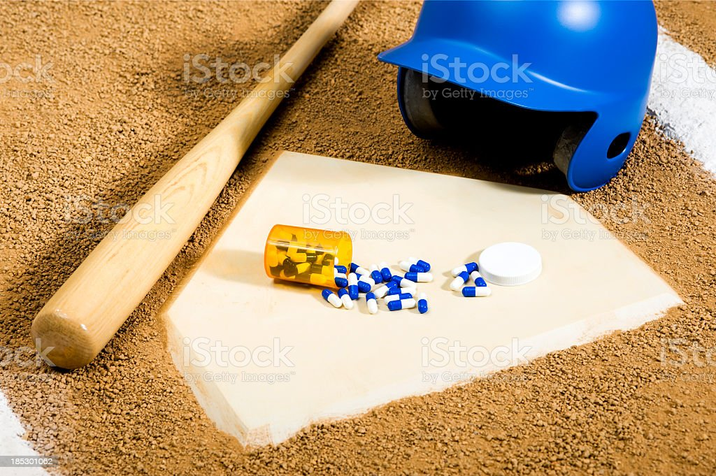 Baseball - Drugs stock photo