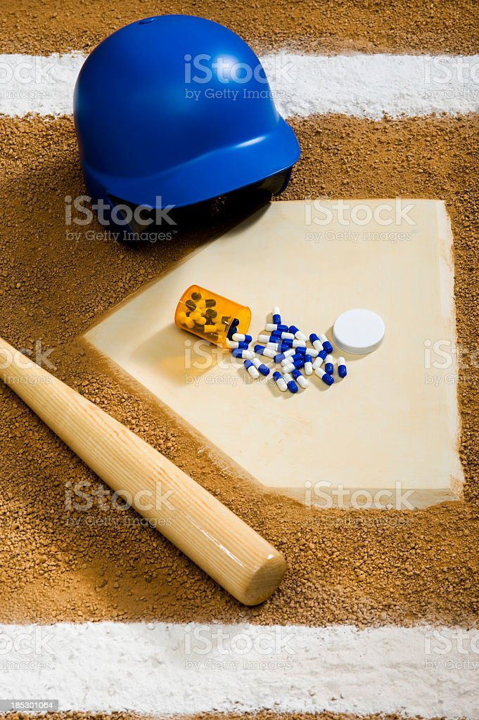 Baseball - Drugs royalty-free stock photo