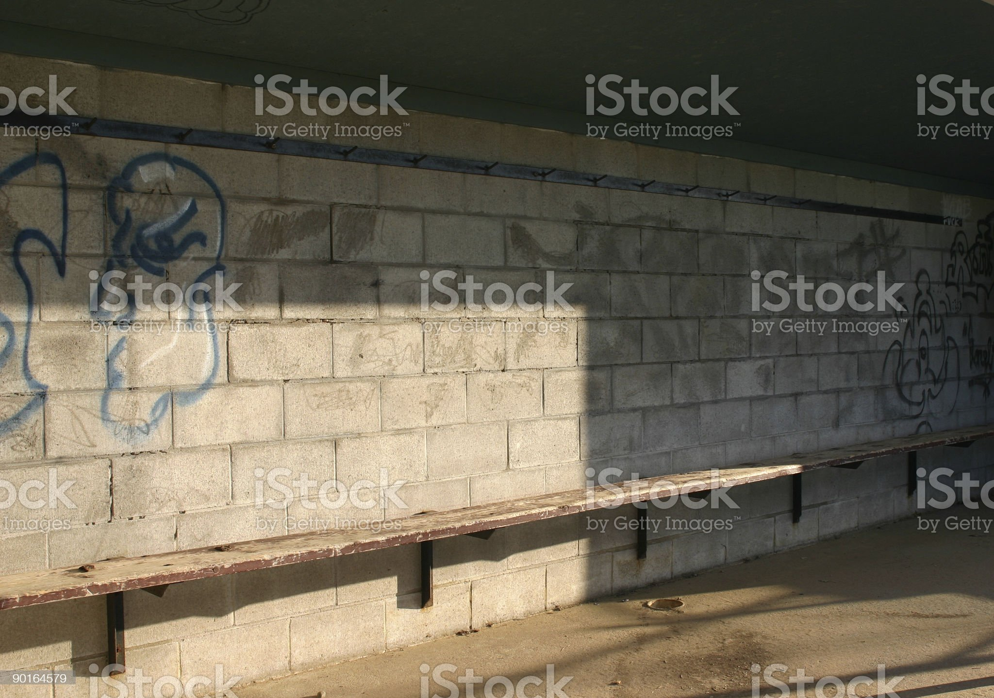 Baseball Dugout royalty-free stock photo
