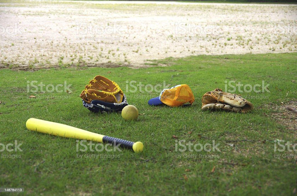baseball equipment fot kids royalty-free stock photo