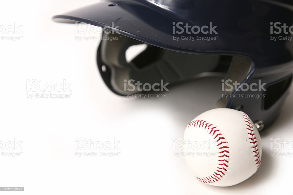 Baseball equipment isolated royalty-free stock photo