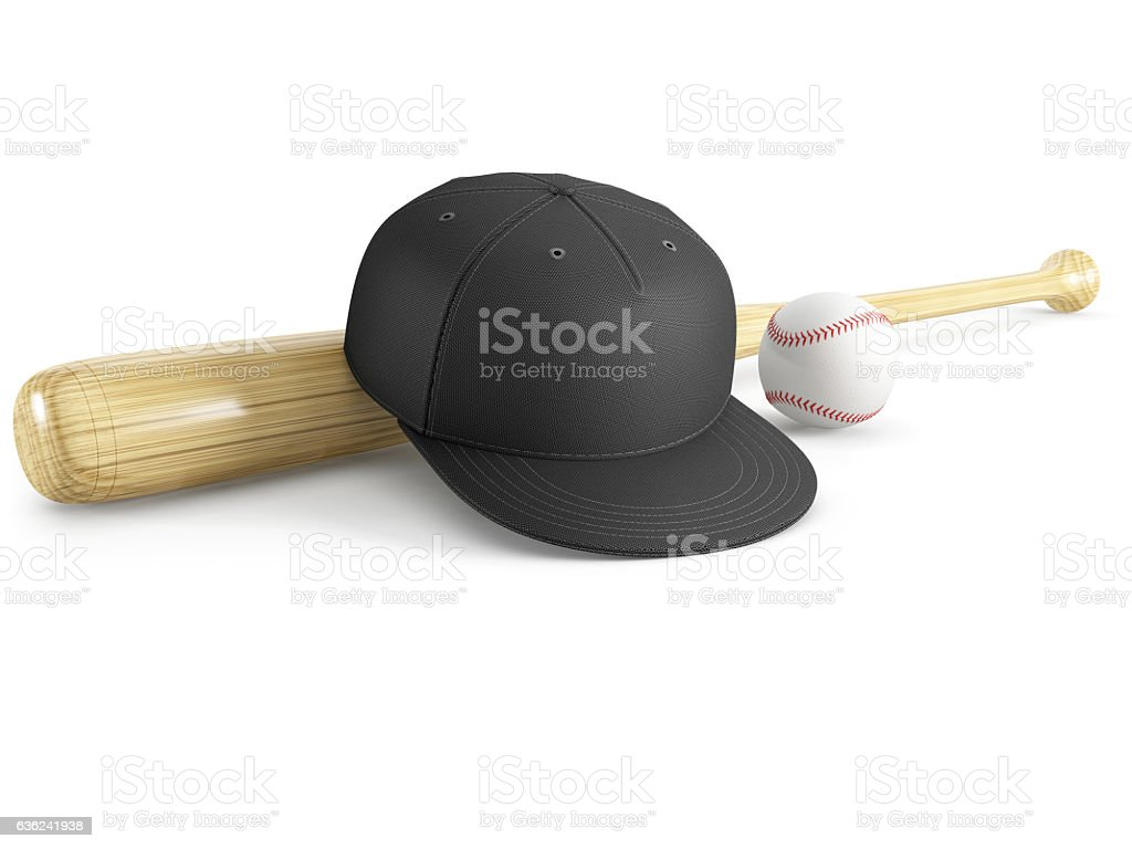 baseball equipment on a isolated on a white background stock photo