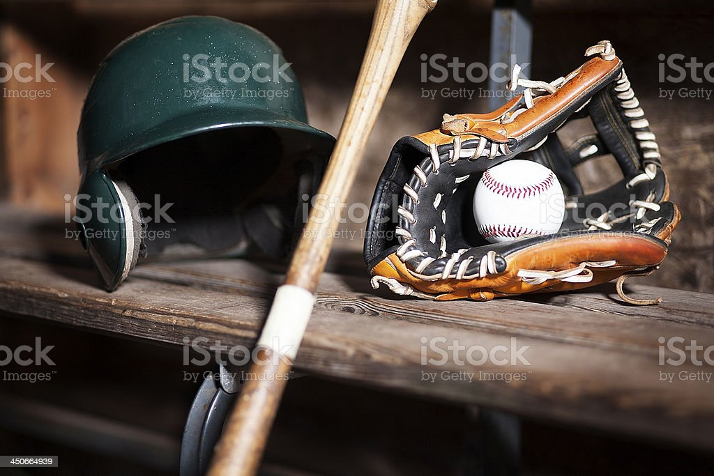 baseball equipment still life stock photo