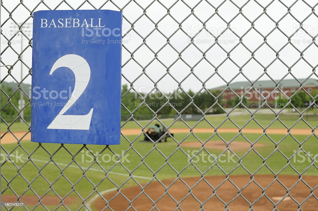 Baseball field 2 with tractor royalty-free stock photo