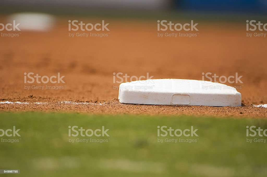 Baseball Field at a Baseball Game royalty-free stock photo