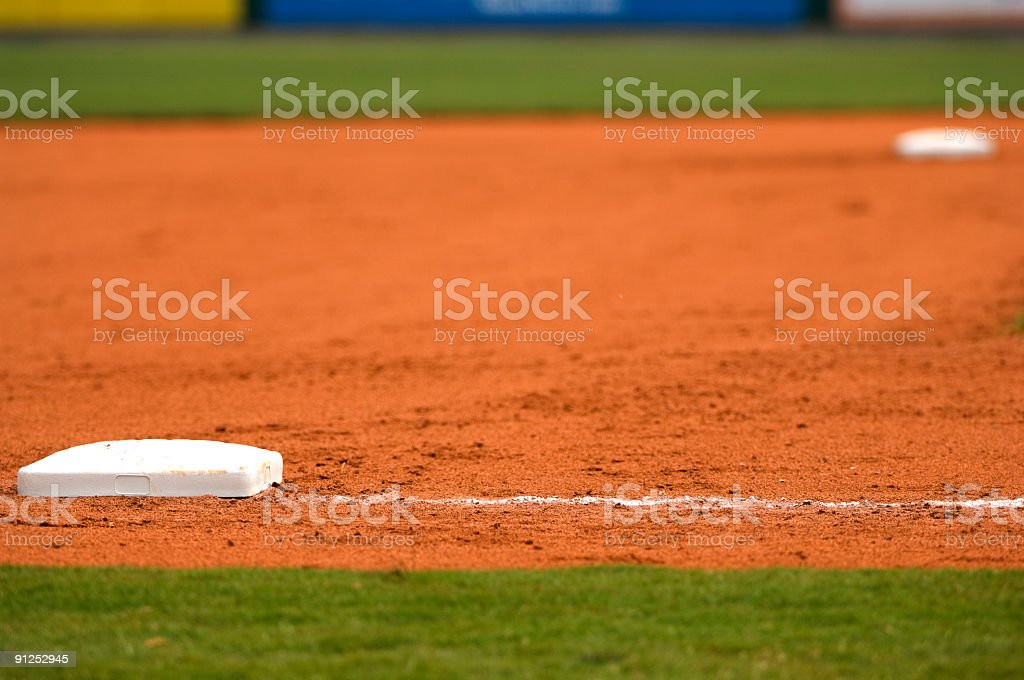 Baseball Field at a Major League Baseball Game royalty-free stock photo