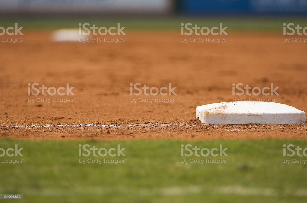 Baseball Field at a Major League Baseball Game stock photo