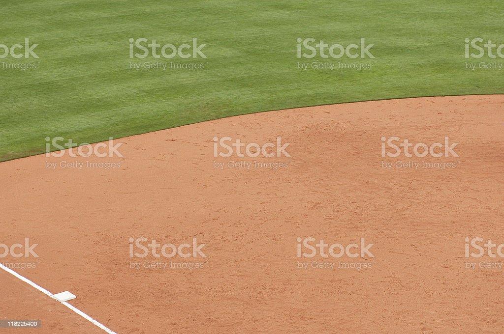 Baseball Field at Baseball Game royalty-free stock photo