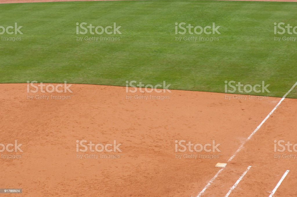 Baseball Field at Baseball Game royalty-free stock photo