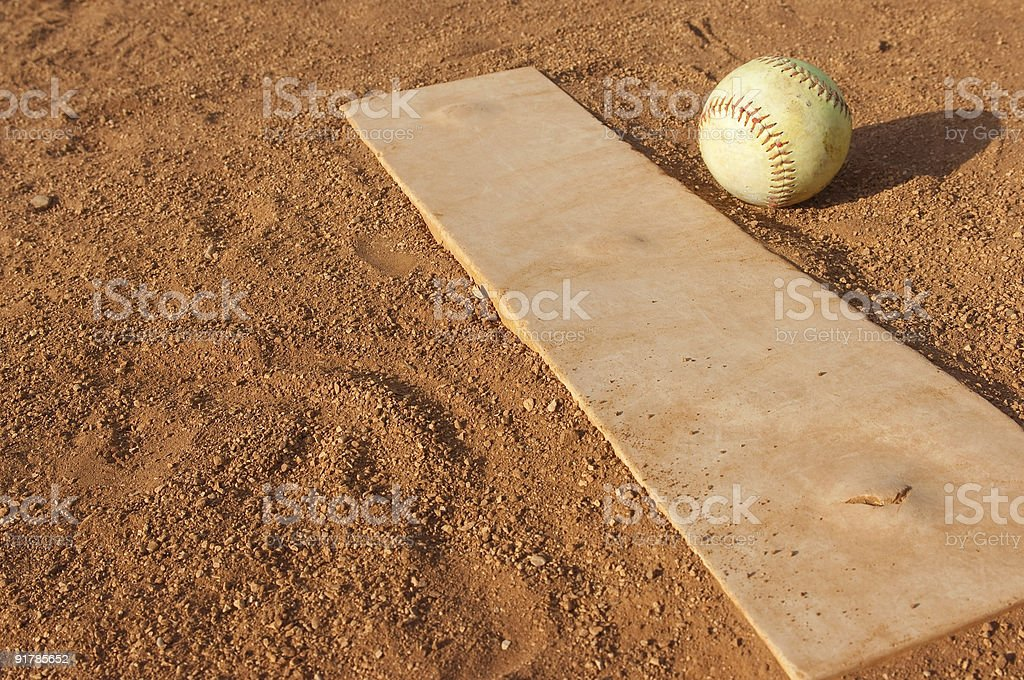 Baseball Field at Baseball Game stock photo