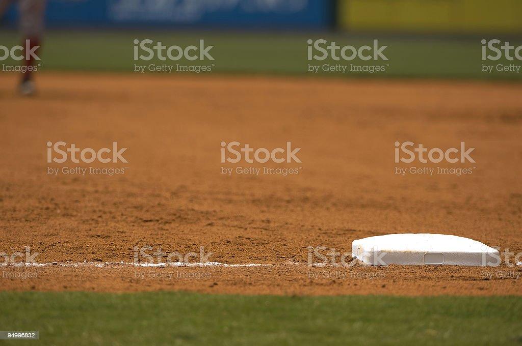 Baseball Field at Baseball Game with Baseball Player stock photo