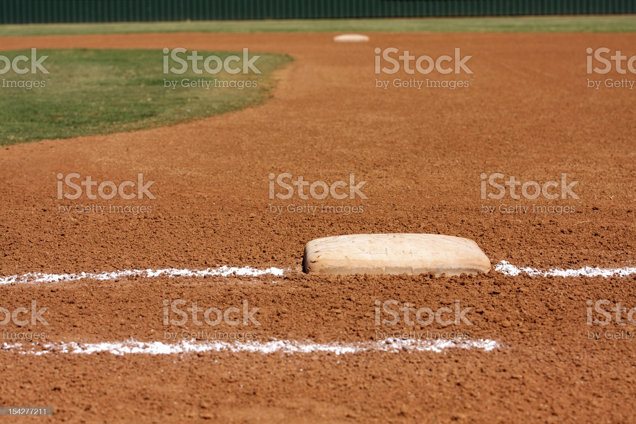 Baseball Field at First Base Line royalty-free stock photo