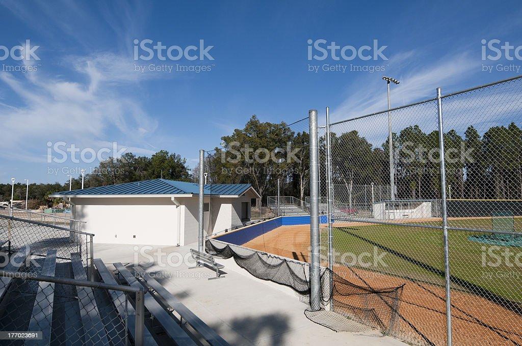 Baseball Field at High School royalty-free stock photo