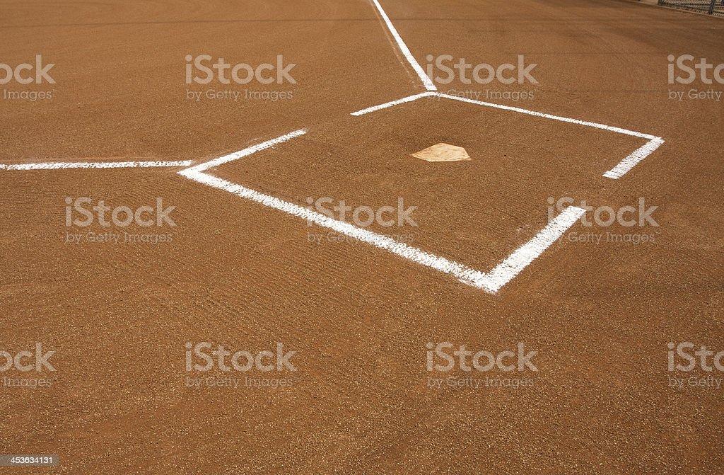 Baseball Field at Home Plate royalty-free stock photo