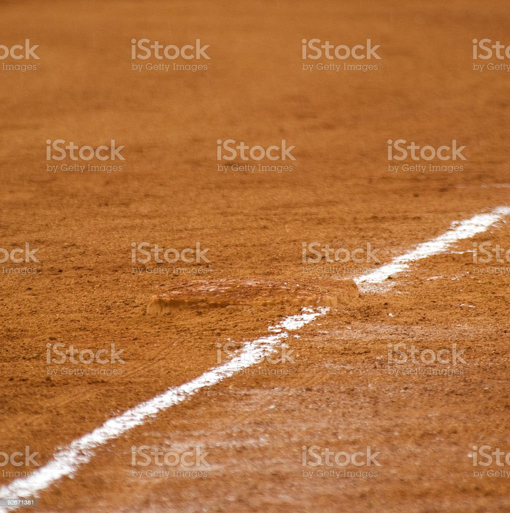 Baseball Field at Major League Baseball Game stock photo