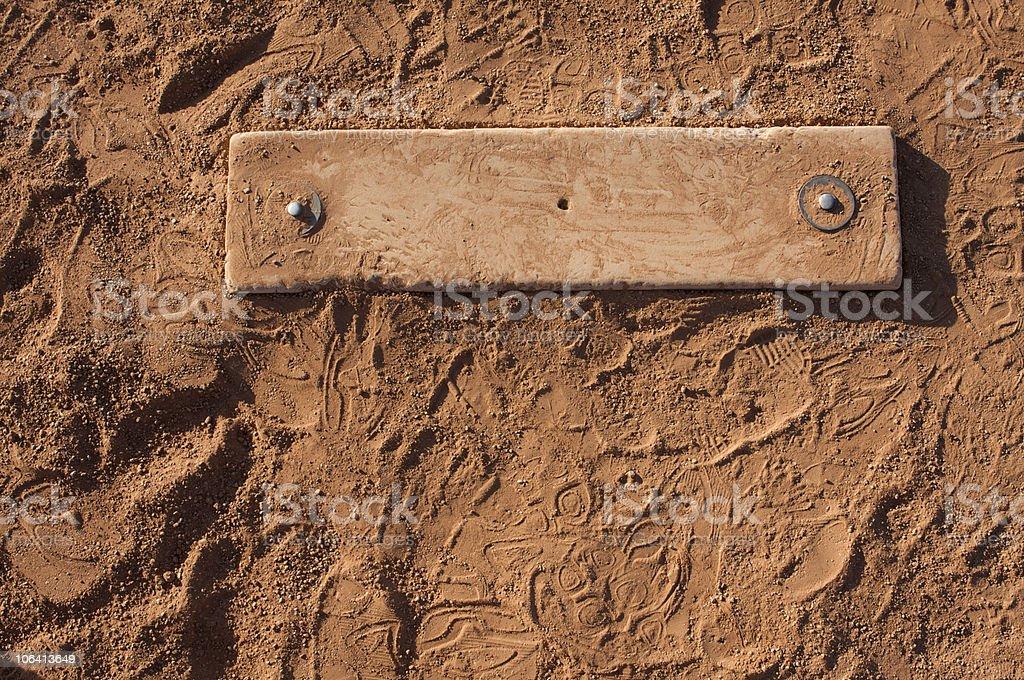 Baseball Field at the Pitchers Mound stock photo