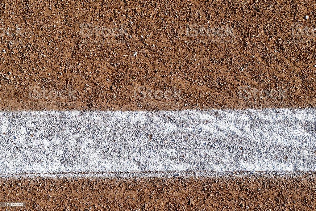 Baseball Field Chalk Line royalty-free stock photo