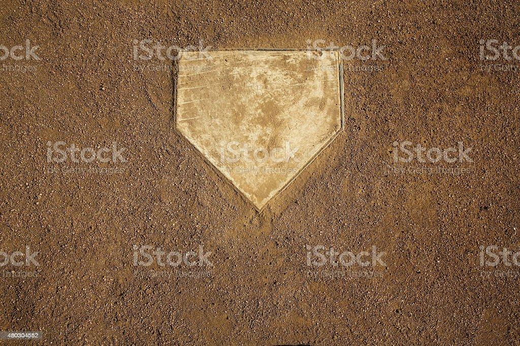 Baseball Field Home Plate stock photo