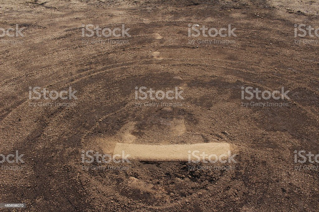 Baseball field of dry riverbed stock photo