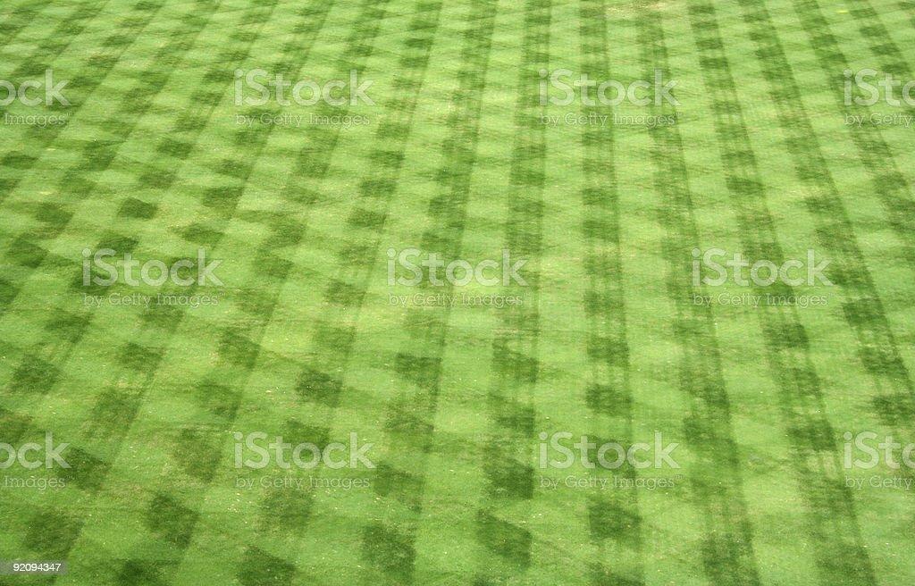 Baseball Field Outfield Grass Pattern stock photo