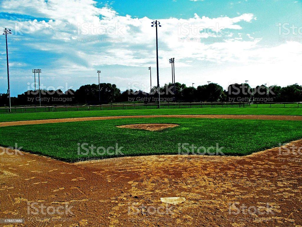 Baseball Field stock photo
