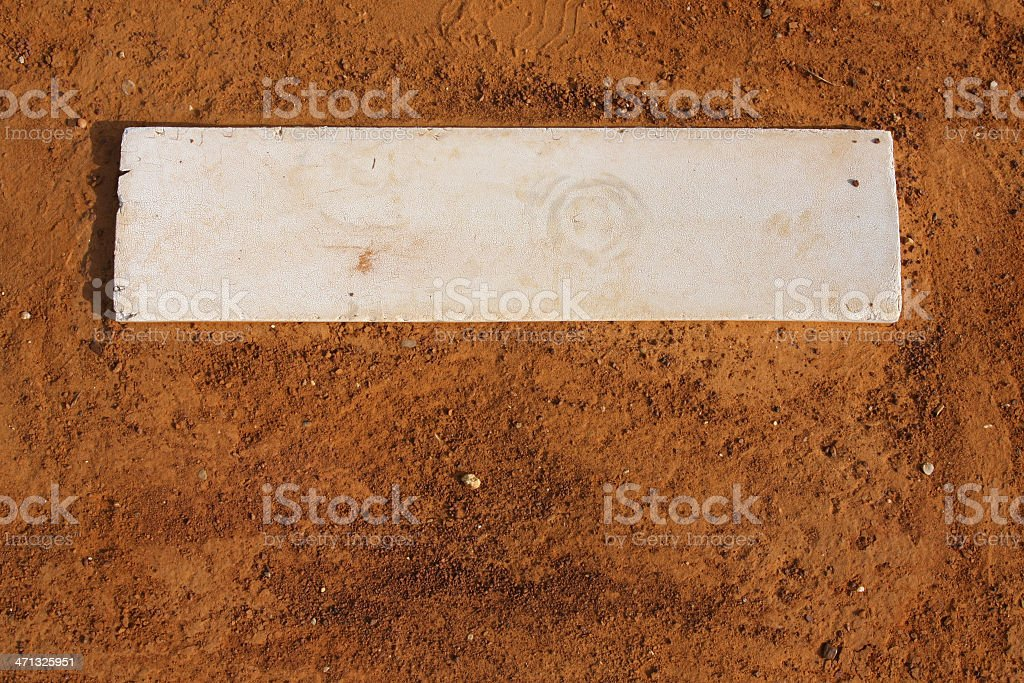 Baseball Field Pitchers Mound stock photo