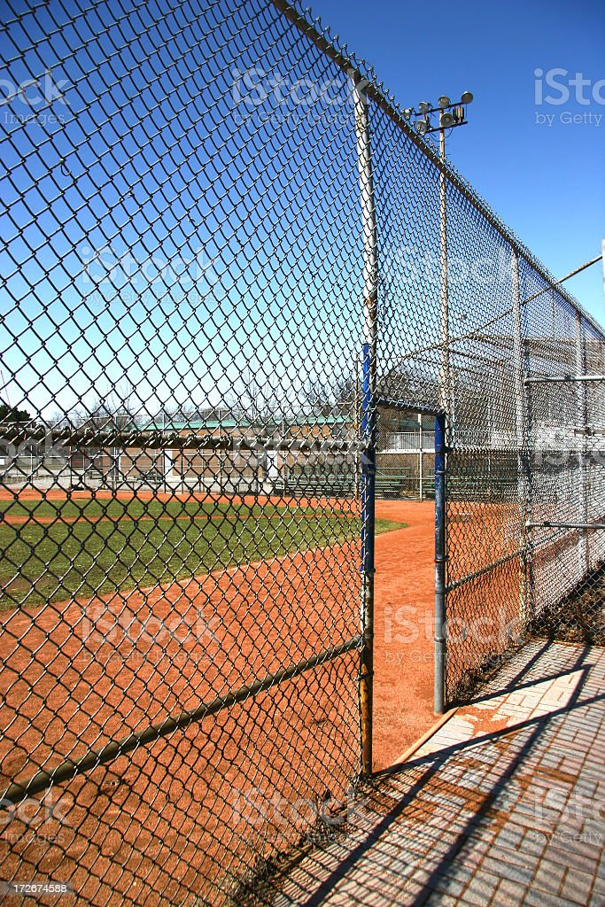 Baseball Field - View from The Dugout royalty-free stock photo