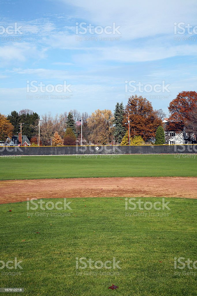 Baseball Field View From The Mound royalty-free stock photo